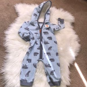 Just One You baby hooded fleece jumpsuit